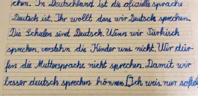Almanya'da tenefüste Türkçe konuşan öğrencilere ceza
