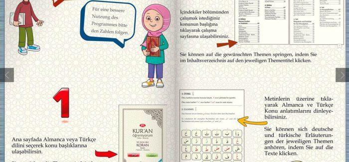 DİTİB'den Türkçe ve Almanca hazırlanan elifba cüzü dijital ortama taşındı